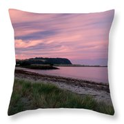 Twilight After A Sunset At A Beach Throw Pillow