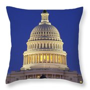Twilight Over Us Capitol Throw Pillow