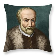 Ulisse Aldrovandi, Italian Polymath Throw Pillow