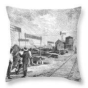 Underground Village, 1874 Throw Pillow