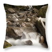Unnamed Waterfall Along South Tongass Throw Pillow