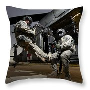 U.s. Air Force Crew Strapped Throw Pillow