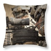 U.s. Army Rangers In Afghanistan Combat Throw Pillow