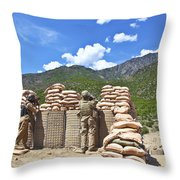 U.s. Army Soldier And An Afghan Throw Pillow