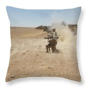 U.s. Marines Fire Several Throw Pillow