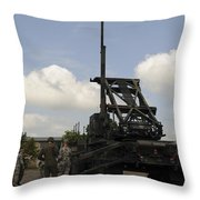 U.s. Soldiers Teach The Polish Military Throw Pillow
