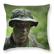 U.s. Special Forces Soldier Throw Pillow