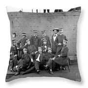U.s.s. Monitor, 1862 Throw Pillow