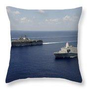 Uss Pearl Harbor, Uss Makin Island Throw Pillow