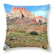 Utah Cactus Field Throw Pillow