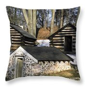 Valley Forge Winter Throw Pillow