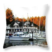 Vancouver Rowing Club Throw Pillow