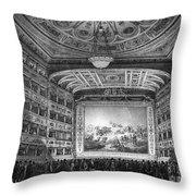 Venice: Teatro La Fenice Throw Pillow