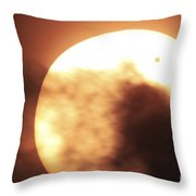Venus Transiting In Front Of The Sun Throw Pillow