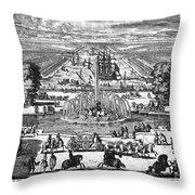 Versailles: Gardens, 1685 Throw Pillow
