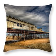 Victoria Pier Throw Pillow by Adrian Evans