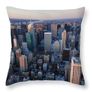 View From Empire State Building Throw Pillow