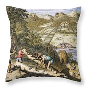 View Of Savannah, Georgia Throw Pillow