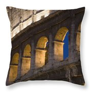 View Of The Roman Coliseum In Rome Throw Pillow