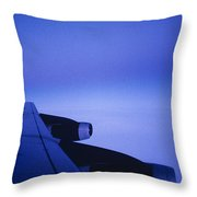 View Out The Window Of A Boeing 707 Throw Pillow