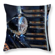 Vintage Car Grill Throw Pillow