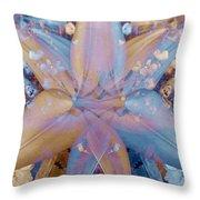 Vintage Lily Throw Pillow
