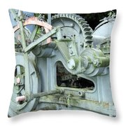 Vintage Steam Powered Lumber Collector Throw Pillow