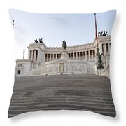 Vittoriano Monument To Victor Emmanuel II. Rome Throw Pillow