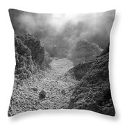 Volcanic Steam Throw Pillow