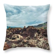 Volcano Batur Throw Pillow