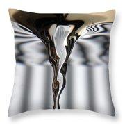Vortex In Water Throw Pillow