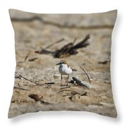 Wading Bird Throw Pillow
