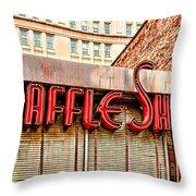 Waffle Shop Throw Pillow