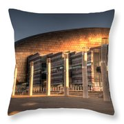 Wales Millenium Centre Throw Pillow