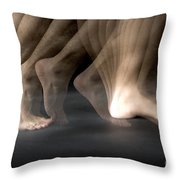 Walking Throw Pillow by Ted Kinsman