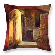 Walled Village Throw Pillow