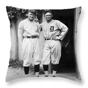 Walter Johnson (1887-1946) Throw Pillow by Granger