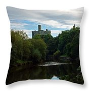 Warkworth Castle Throw Pillow