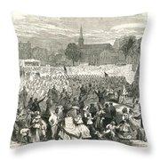 Washington: Abolition, 1866 Throw Pillow