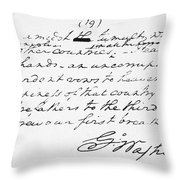 Washington: Farewell, 1796 Throw Pillow