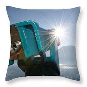 Watching The Sun Throw Pillow