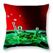 Water Drop Splashing Throw Pillow