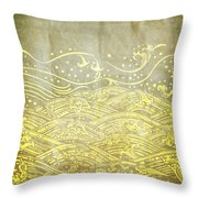 Water Pattern On Old Paper Throw Pillow