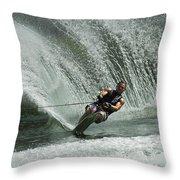 Water Skiing Magic Of Water 27 Throw Pillow