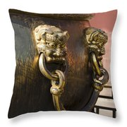 Water Vessel At Forbidden City Throw Pillow