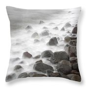 Waves Hitting The Shore Throw Pillow