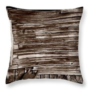 Weathered Wall In Bodie Ghost Town Throw Pillow
