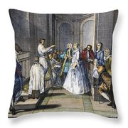 Wedding, C1730 Throw Pillow