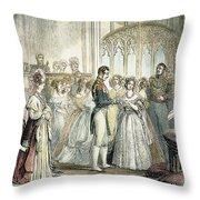 Wedding Of Queen Victoria Throw Pillow