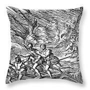 West Indies: Hurricane Throw Pillow
